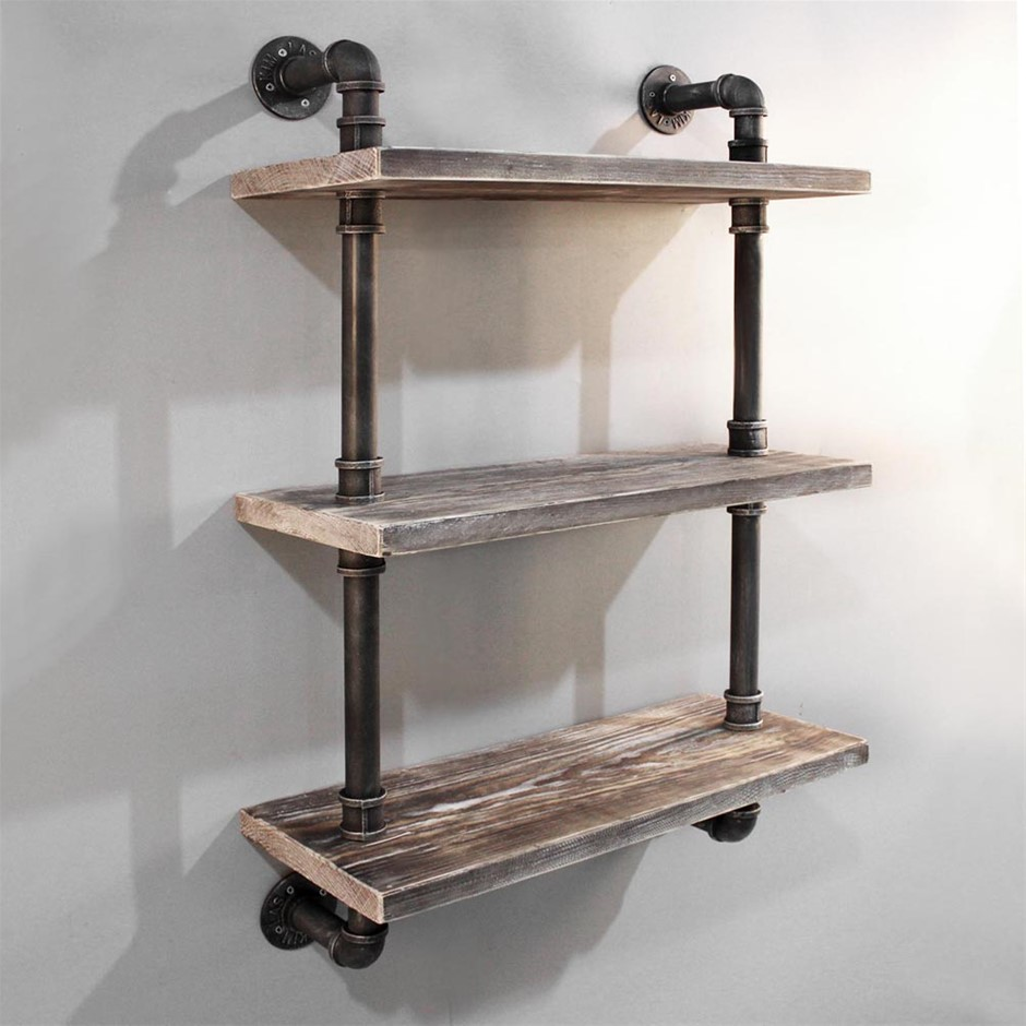Artiss 3 Level Rustic Industrial DIY Shelf Wall Vintage