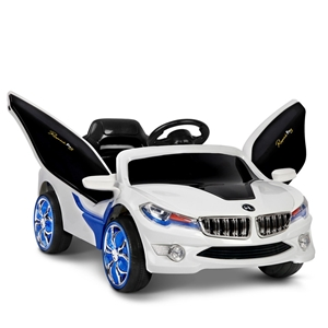 Rigo Kids Ride On Car - Blue & White
