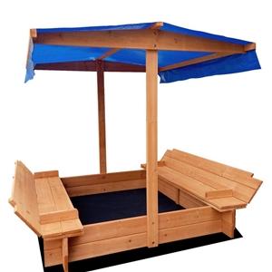 Keezi Wooden Outdoor Sand Box Set - Natu