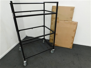 Qty 5 x Steel Frame Trolly Assembly