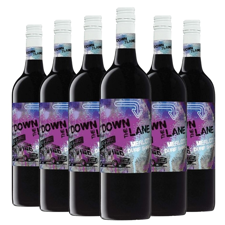 De Bortoli Down the Lane Merlot Durif Shiraz 2017 (6 x 750mL) SEA