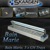 Unused 5 x 1/2 Tray Stainless Steel Bain Marie - HSL-5