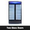 Unused Double Glass Door Display Fridge - APGL-1000