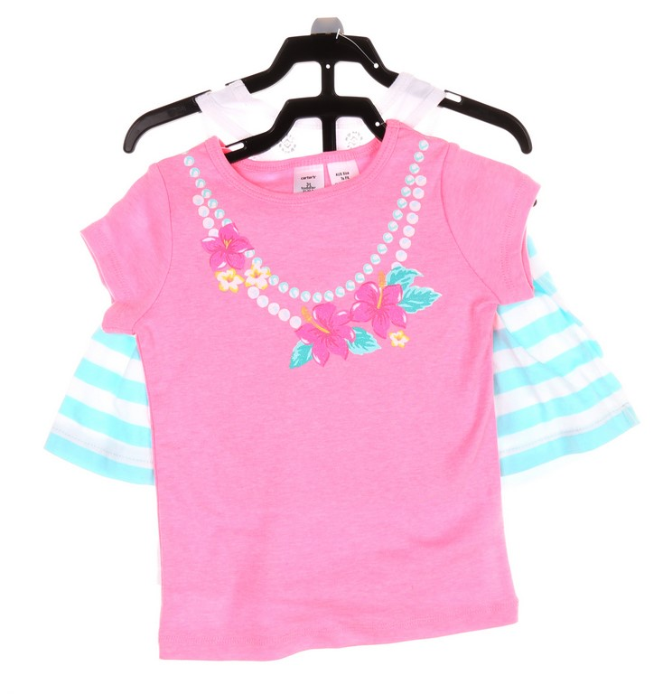 CARTER`S Girl`s 3pc Clothing Set, Size 2T, Comprising; T-Shirt, Singlet & S