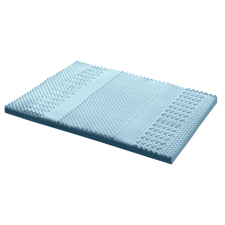 Giselle Bedding COOL GEL Memory Foam Mattress Topper BAMBOO 8CM 7-Zone King