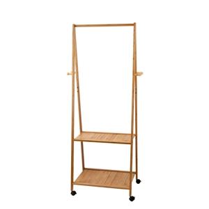 Artiss Portable Bamboo Double Shelf Rail