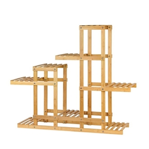 Bamboo Wooden Plant Stand Garden Planter