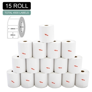 15 Rolls Thermal Label - Core 25mm x 300
