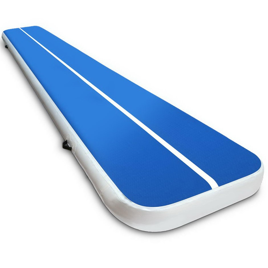 Everfit Inflatable Air Track Mat Gymnastic Tumbling 5m x 100cm - Blue