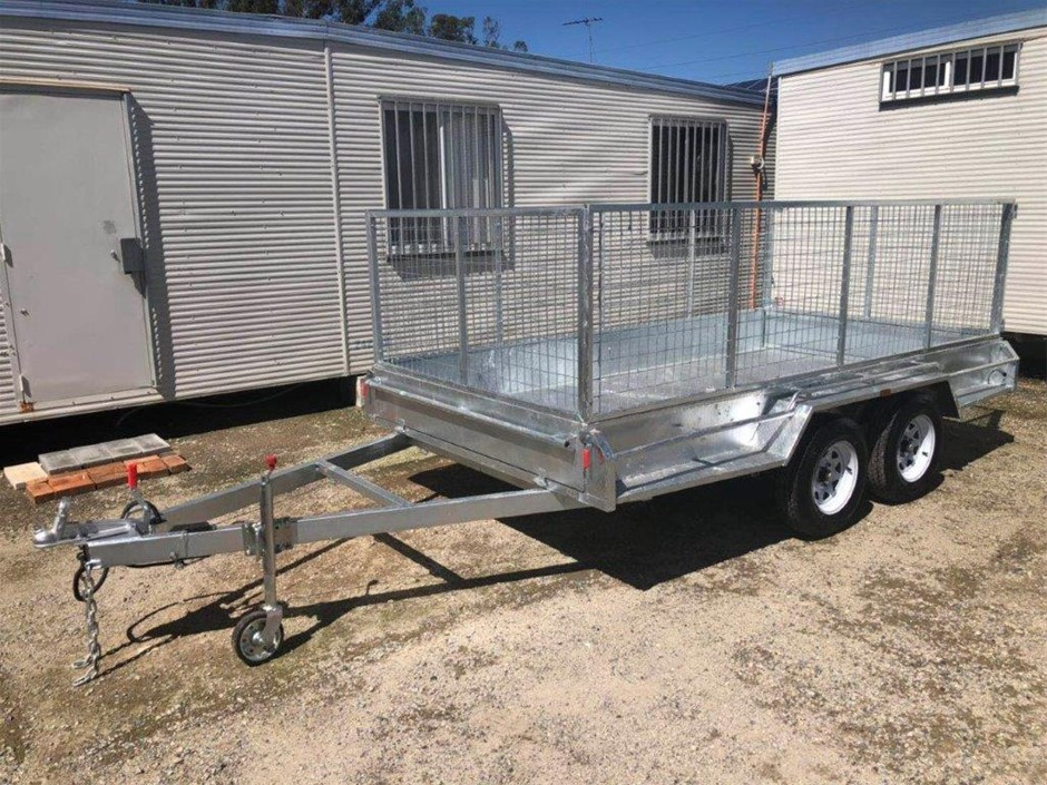 2020 New Galvanised Dual Axle 12' x 6' Box with Cage