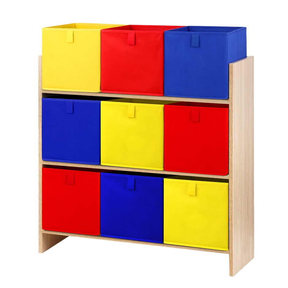 Artiss Kids Storage Box Toys Organizer Bookcase Display Rack Fabric Bin