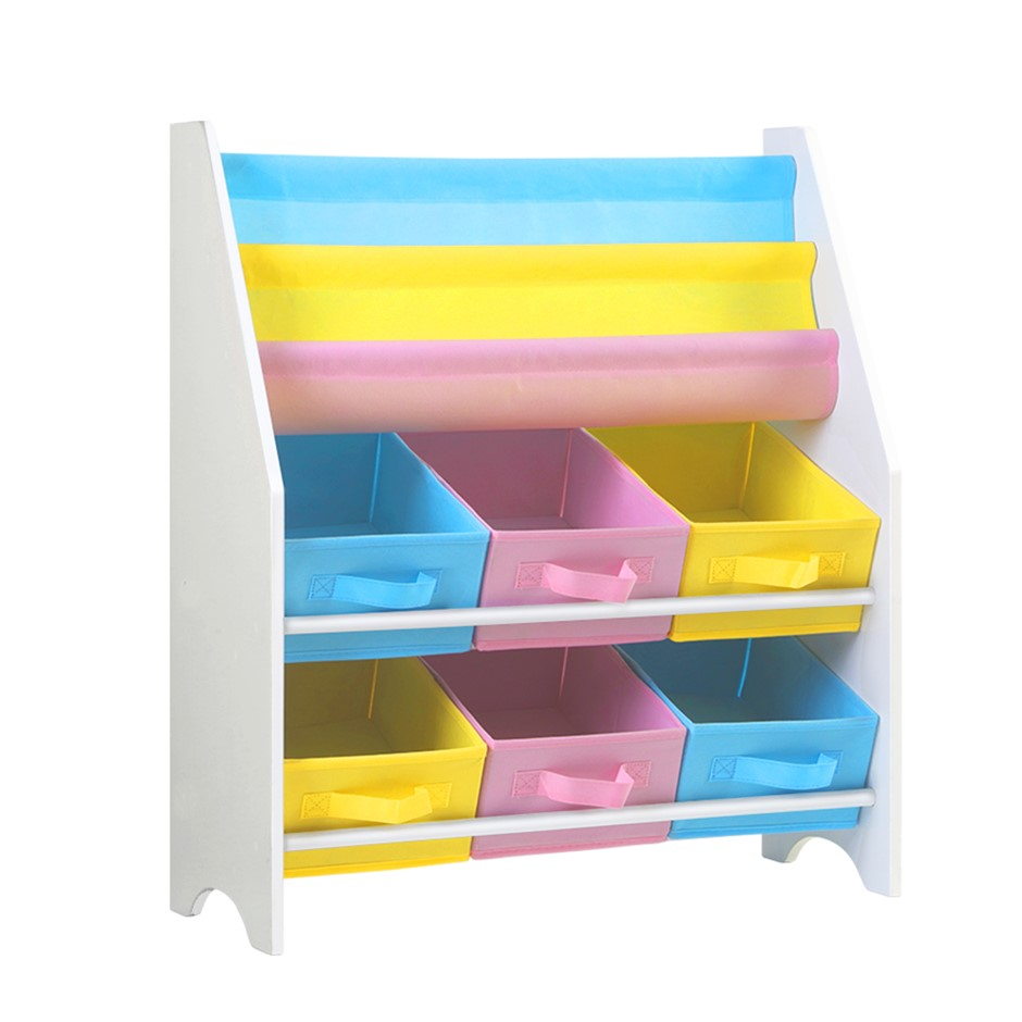 Artiss Kids Bookshelf Toy Organizer Bookcase 2 Tiers Display Shelf Rack