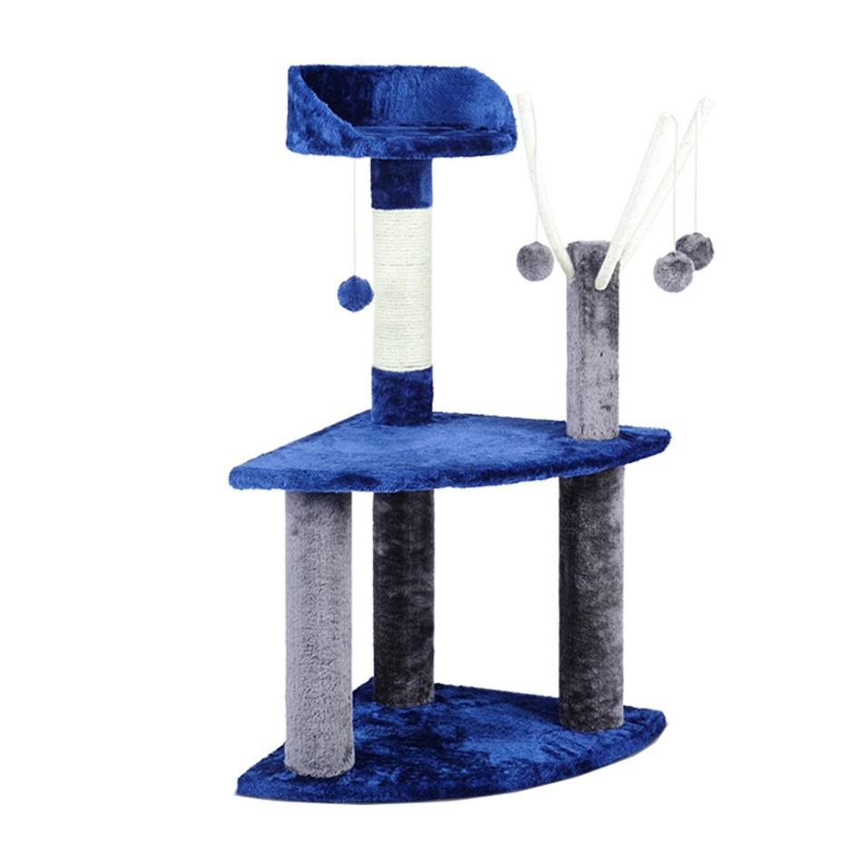 i.Pet 95cm Cat Scratching Post - Blue & Grey