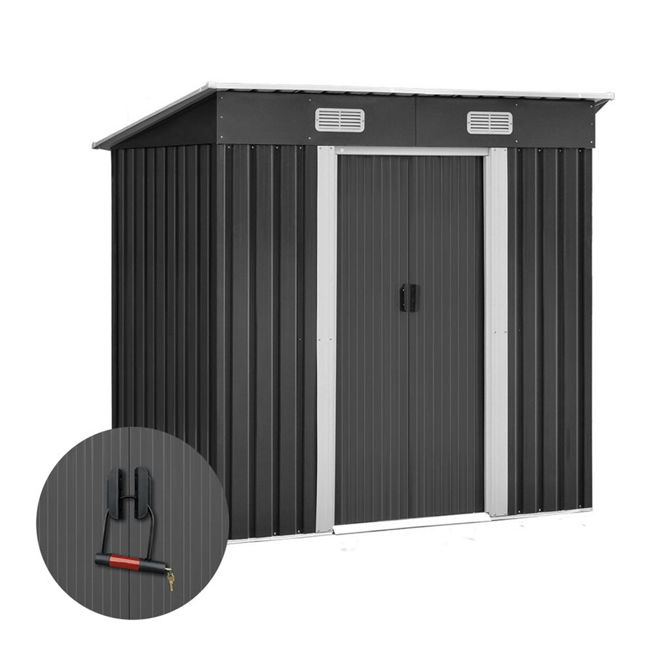 Giantz 1.94 x 1.21m metal Tood Shed - Grey