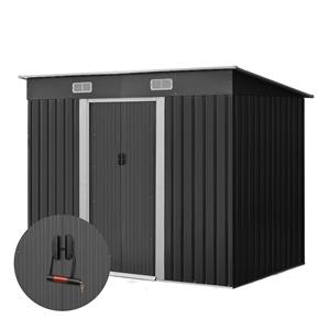 Giantz 2.35 x 1.31m Steel Garden Shed -