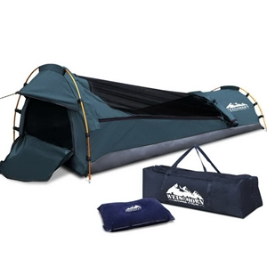 Weisshorn Single Size Canvas Tent - Navy