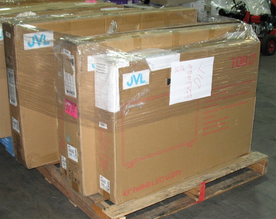 Pallet of 7 x assorted faulty return JVL TVs
