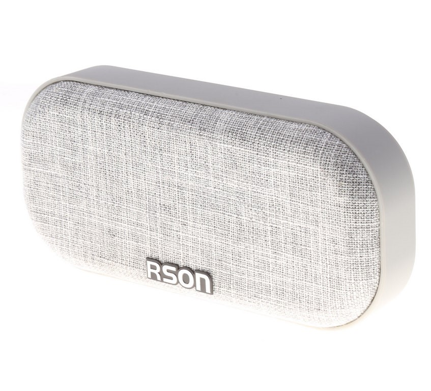 RSON Bluetooth Wireless Speaker Output 3W, Oval Shaped 190 x 90mm Grey Fabr