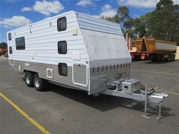 2012 Custom Built 6.5m Tandem Axle 5 Birth Caravan