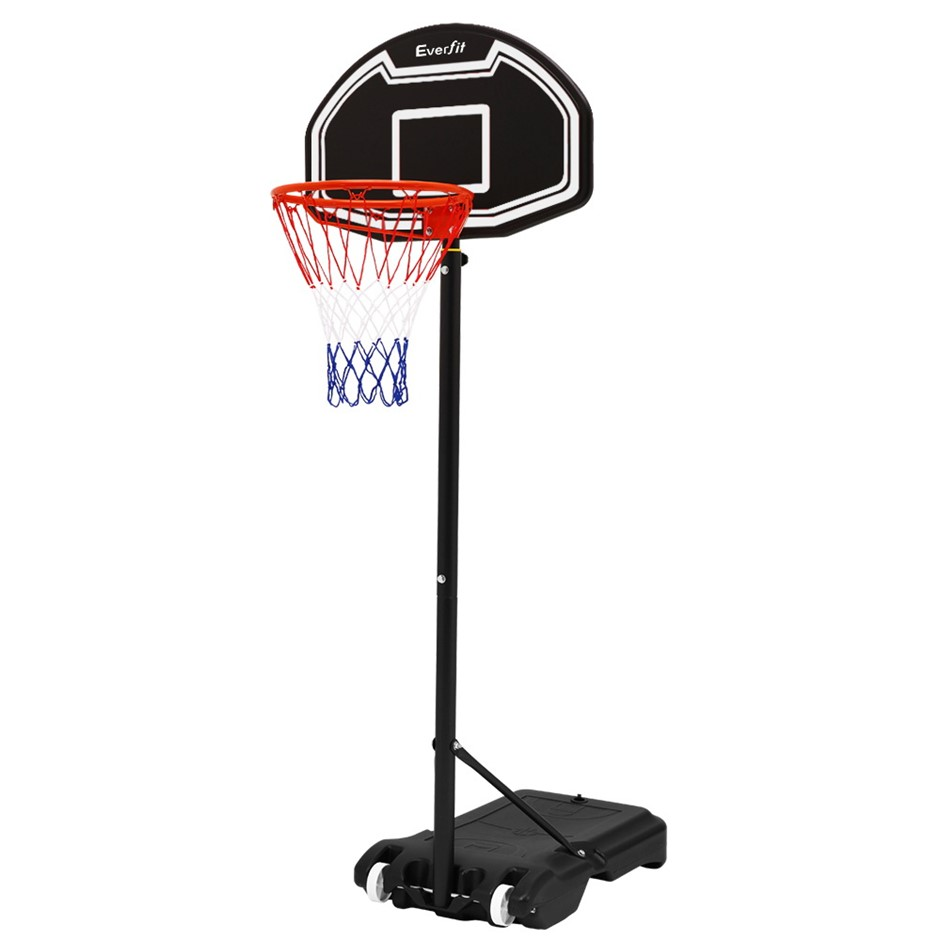 Everfit Pro Basketball Stand System Hoop Height Adjustable Net Ring BK
