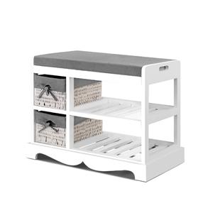 Artiss Shoe Cabinet Rack Wooden Storage