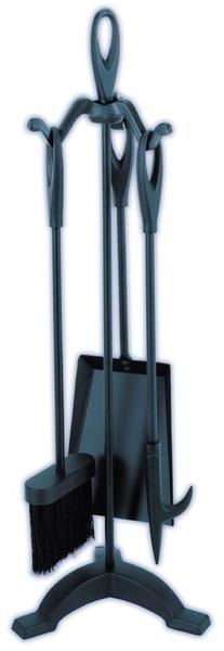 Melton Craft 4 PC Mini Firetool Set H64cm Black