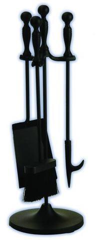 Melton Craft 4 PC Mini Firetool Set H56cm Black