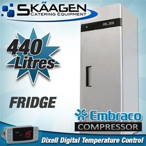 Unused SINGLE DOOR S/STEEL FRIDGE 400L -