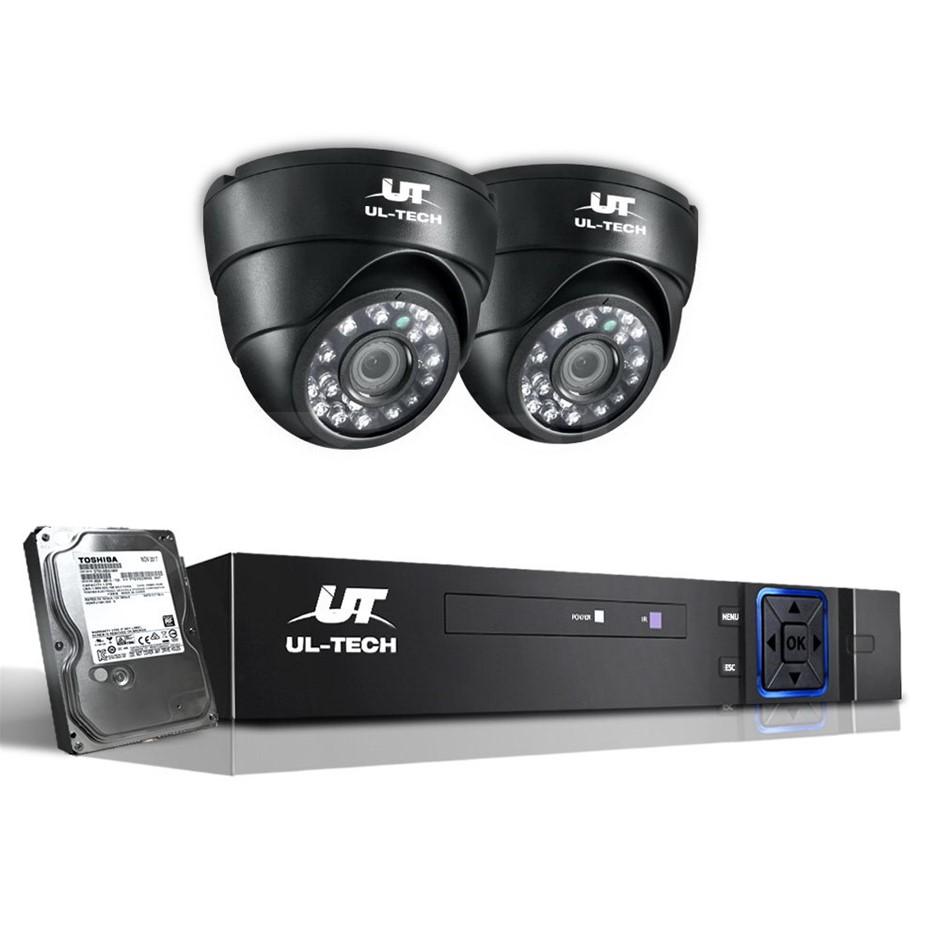 UL-Tech CCTV Security System 2TB 4CH DVR 1080P 2 Camera Sets