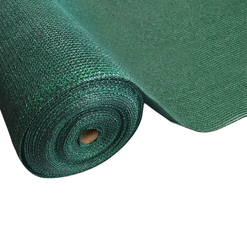 Instahut 50% Sun Shade Cloth Shadecloth Sail Roll Mesh Outdoor Green Sunny