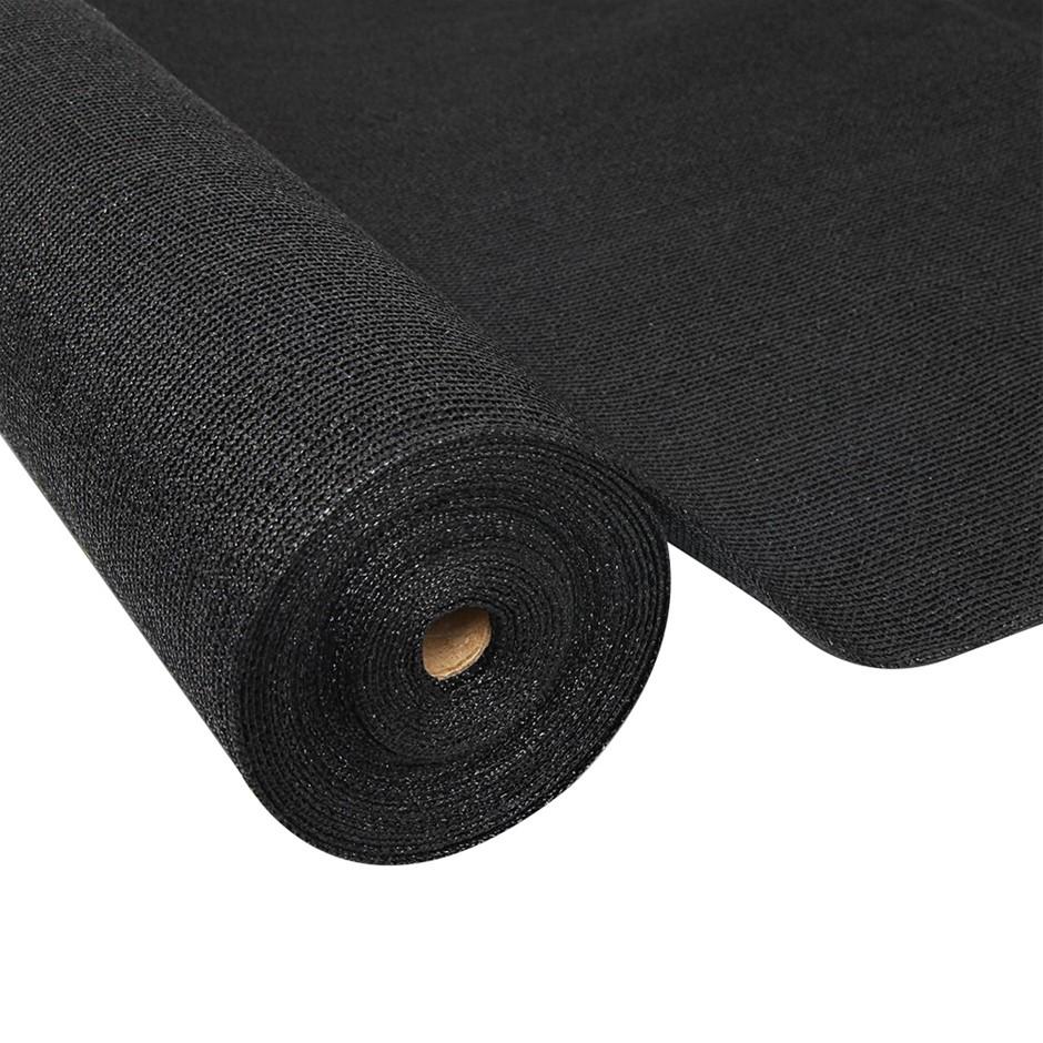 Instahut 70% UV Sun Shade Cloth Sail Roll Garden Outdoor 3.66x20m Black
