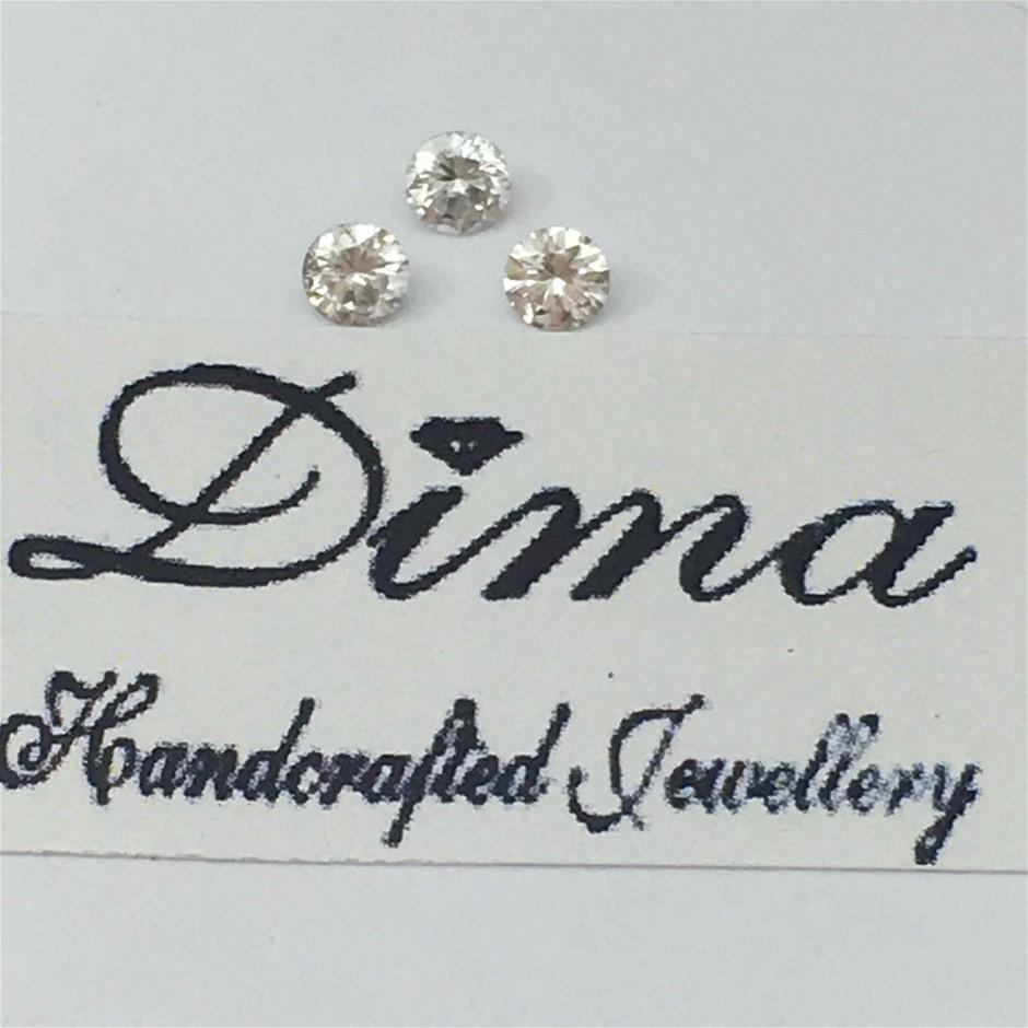 Three Stones Diamond Round 0.17ct