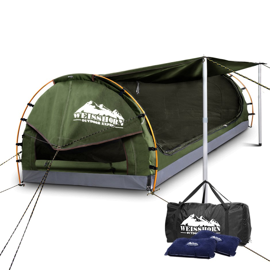 Weisshorn Double Size Dome Canvas Tent - Cream