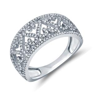 9ct White Gold,0.34ct Diamond Dress Ring