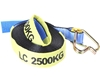 2 x Winch Replacement Straps 50mm x 9M c/w Hook & Keeper, L/C 2500kg with P