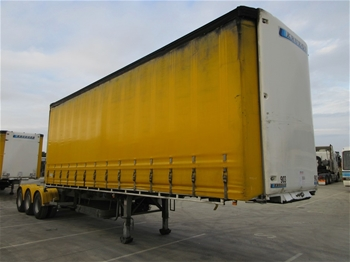 2012 Krueger ST-3-38 Triaxle Curtainside A Section Trailer