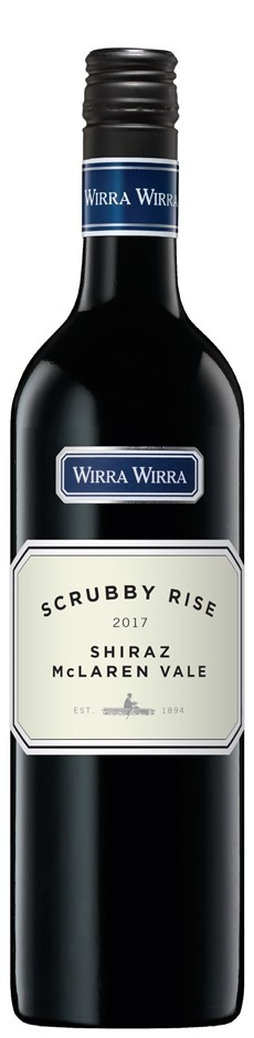 Wirra Wirra `Scrubby Rise` Shiraz 2017 (6 x 750mL), Adelaide, SA.