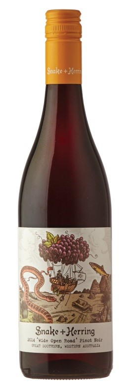 Snake & Herring Wide Open Road Pinot Noir 2017 (12 x 750mL), Great Southern