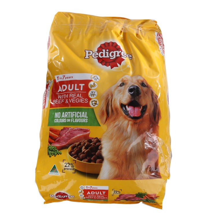 20kg x PEDIGREE Adult Dog Formula with Real Beef & Vegies. (SN:CC34429) (26