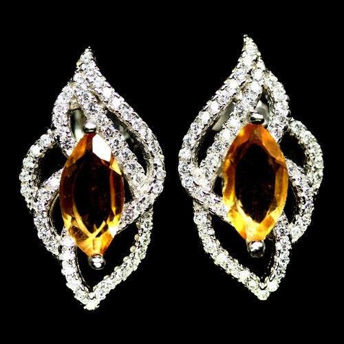7d17a4d61 Natural Golden Yellow Citrine Stud Earrings