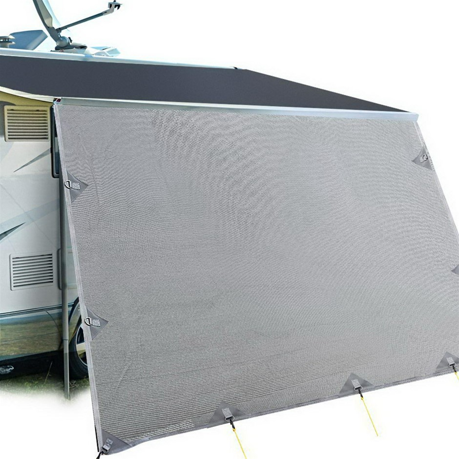 Weisshorn Caravan Roll Out Awning 4.6 x 1.8m - Grey