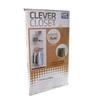 HANDY STORAGE Clever Closet Wardrobe Rack System, Hanging & Shelf Space. (S