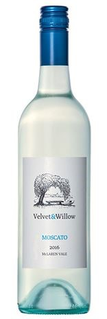 Velvet & Willow Moscato 2016 (12 x 750mL) McLaren Vale, SA