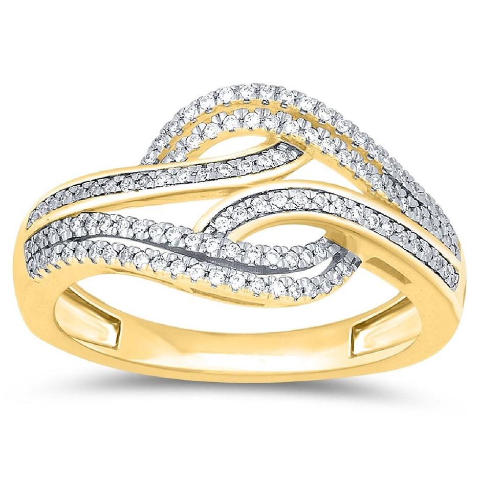 9ct Yellow Gold, 0.11ct Diamond Dress Ring