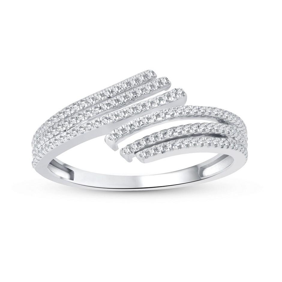 9ct White Gold, 0.19ct Diamond Dress Ring