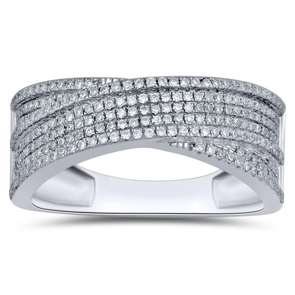 9ct White Gold, 0.34ct Diamond Dress Ring