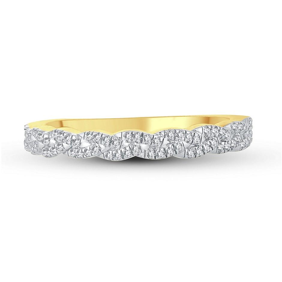 9ct Yellow Gold, 0.13ct Diamond Dress Ring