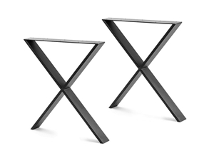 X Shaped Table Bench Desk Legs Retro Ind