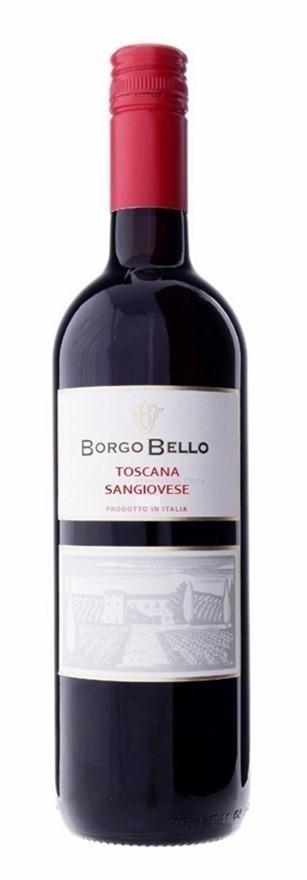 Borgo Bello Toscana Sangiovese IGT 2016 (6 x 750mL), Tuscany, Italy