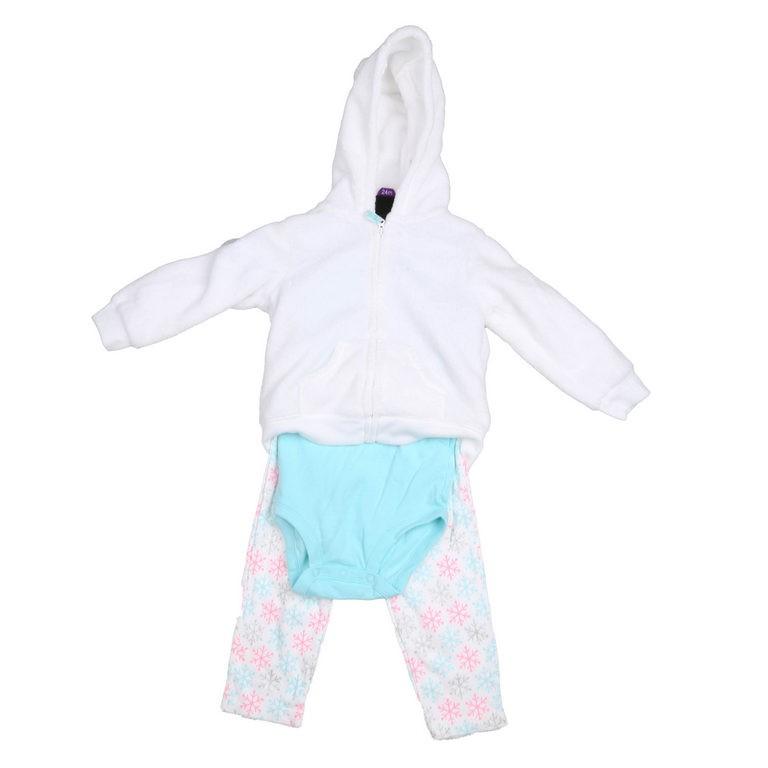 CARTER`S 3pc Girl`s Winter Clothing Set, Size 18M, Incl; Leggings, Romper,